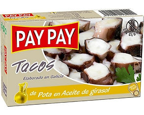 PAY PAY JIBIA PULPO EN ACEITE x 115 GR.j