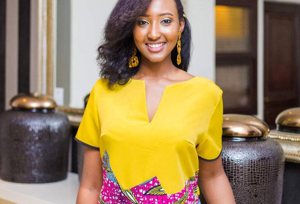 Salia Dress Mustard