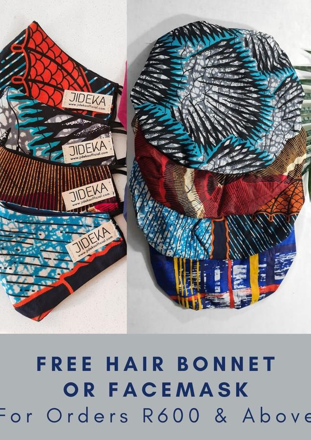 Ankara African print hair bonnet