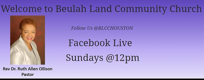 Beulah Land Community Church, Houston, T