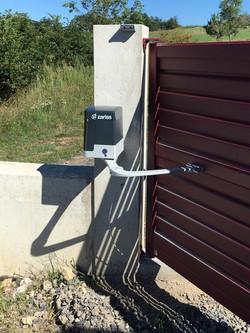 Installation motorisation de portail