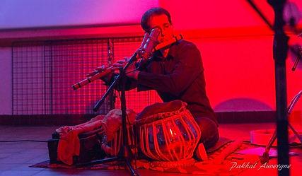 Alexandre Brun concert de musique du monde, Flûte Bansuri et tablas, Spectacle solo, Clermont-Ferrand