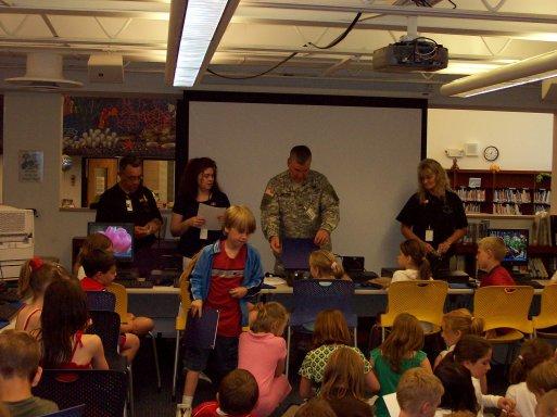 Soldiers Visit Schools