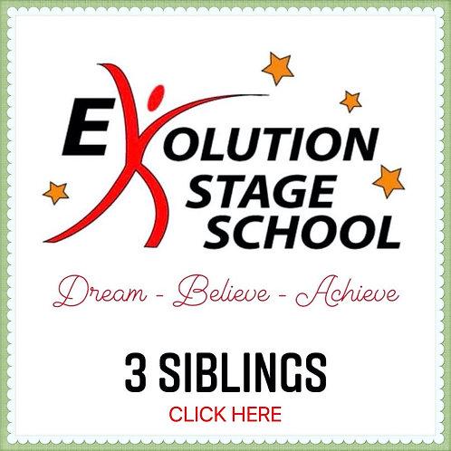 3 STUDENTS (*Siblings) 4 Week Fee + €1 Transaction fee