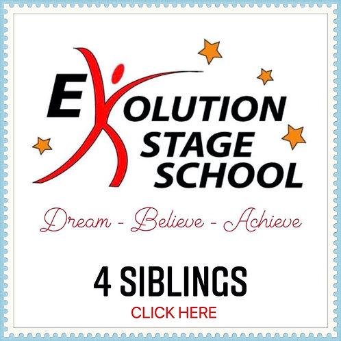 4 STUDENTS (*Siblings) 4 Week Fee + €1 Transaction Fee