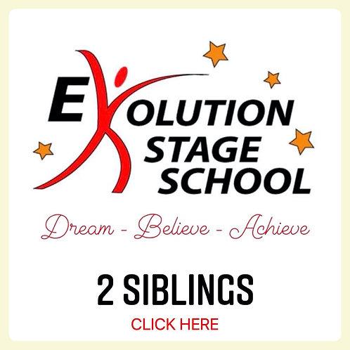2 STUDENTS (*Siblings) 4 Week Fee + €1 Transaction Fee