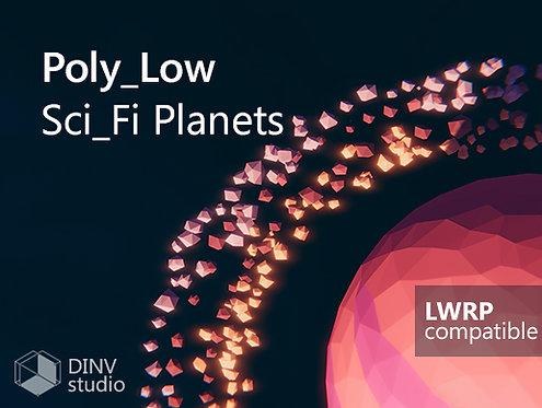 3d low poly space asset