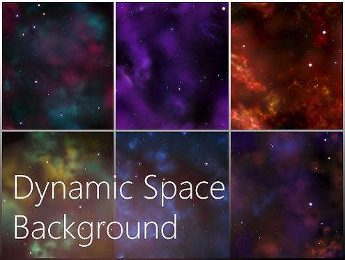 Dynamic Space Background (Unity)