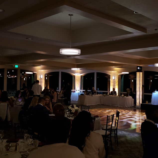 Wedding uplighting by Ambient Pro