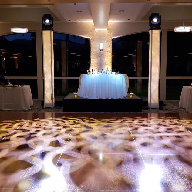 Wedding Dance floor lighting by Ambient Pro