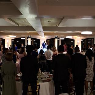 Wedding Ballroom uplighting by Ambient Pro