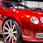 Candy red paint job for Bentley