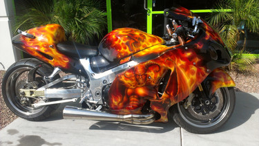 Hayabusa Custom Flames
