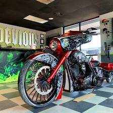 Custom Candy Red Motorcyle