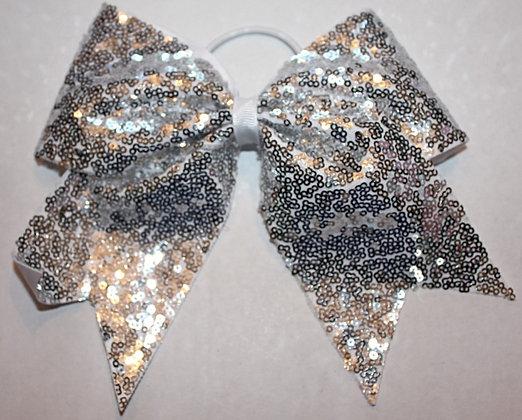 Silver Sequin Hair Bow