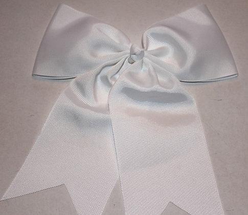 White Hair Bow;Monogrammed Cheer Bow