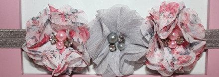 Grey & Floral Flower Crown