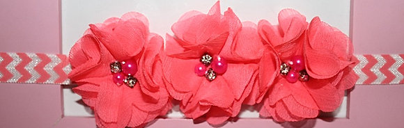 Hot Pink Solid Flower Crown