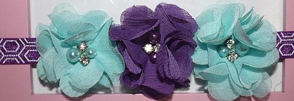 Light Blue & Purple Flower Crown