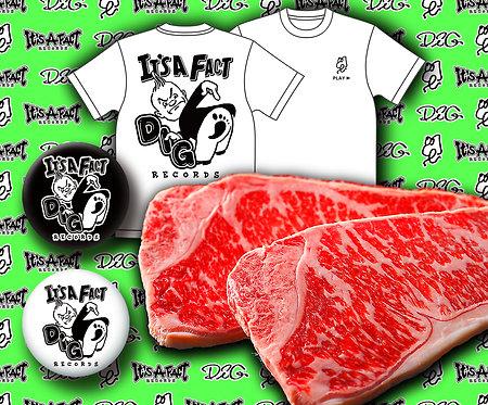 DIG チャリティー黒毛和牛サーロインステーキ セット