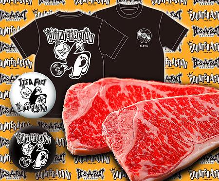 KLUB COUNTER ACTION チャリティー黒毛和牛サーロインステーキ セット