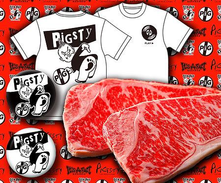 PIGSTY チャリティー黒毛和牛サーロインステーキ セット