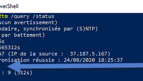 Configuration NTP Windows Server AD avec Hyper-V