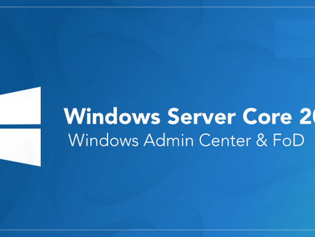 Configuration complète Windows server Core 2019