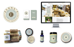 Elena's Organic Products Website and Logo