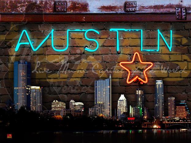 Austin Neon Print