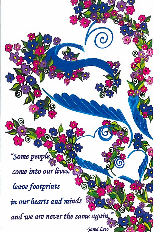 All Occasion Greeting Card: Footprints