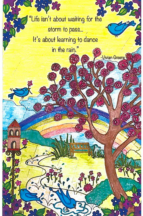 All Occasion Greeting Card: Dance In the Rain