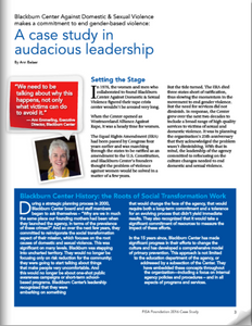 A Case Study in Audacious Leadership