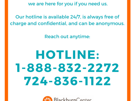 Notice Regarding Blackburn Center Services