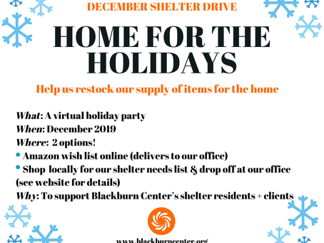 """Join Our (Virtual) """"Home for the Holidays"""" Party!"""