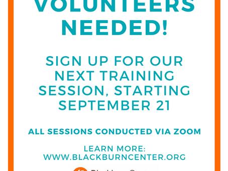 Blackburn Center Needs Volunteers