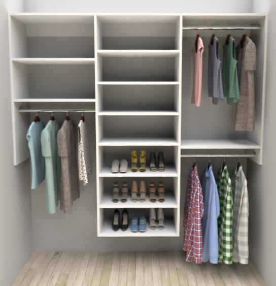 Average Reach-in Closet