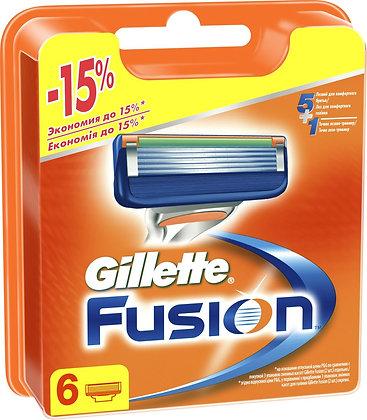 кассеты для бритвы gillette fusion 5 6шт