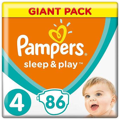 Подгузники Pampers Sleep and Play 4 9-14кг86шт