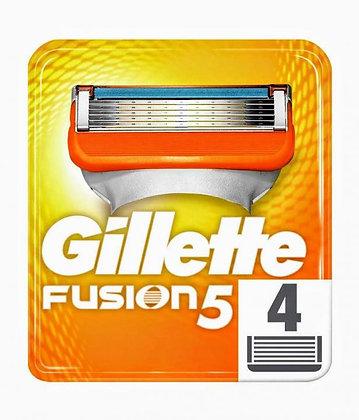 кассеты для бритвы gillette fusion 5 4шт