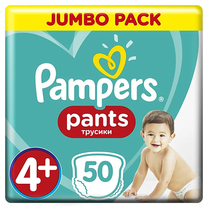 Подгузники-трусики Pampers Pants Maxi Plus Размер 4+ (9-15 кг), 50 шт