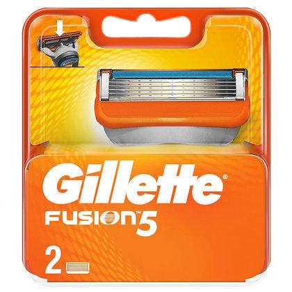 кассеты для бритвы gillette fusion 5 2шт