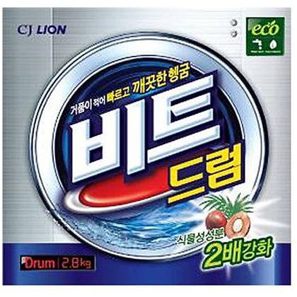 CJ Lion Beat Drum Порошок-автомат с пальмовым экстрактом для белых и цветных вещ