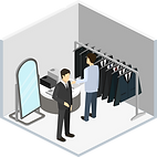 Vêtements pour hommes magasin