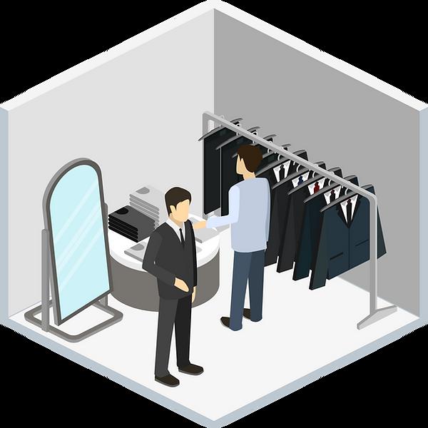 Homens loja de roupa