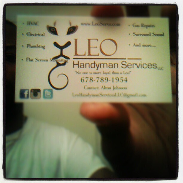 Leo Handyman, that's a brand name; like #Pepsi, that's a brand name