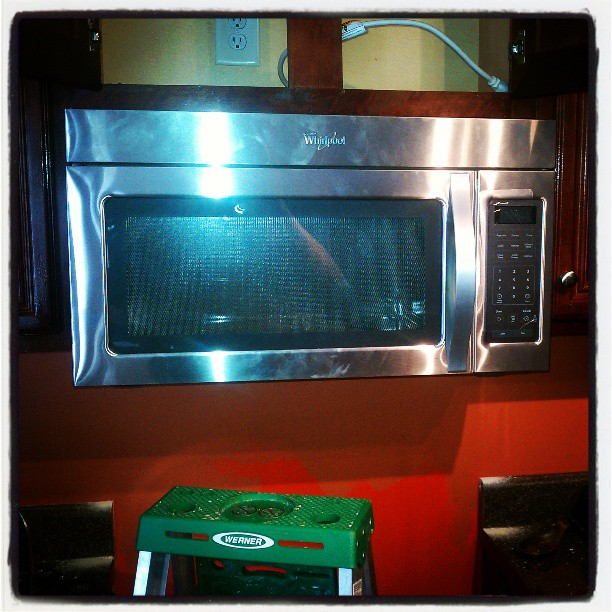 #Whirlpool #microwave installed