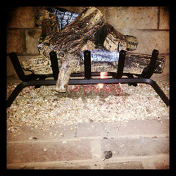 #Gas #log #fireplace installed
