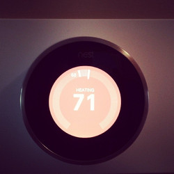 This #Nest #thermostat is pretty #cool. Installed this today. They go for $250 a pop, this customer