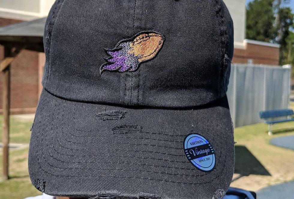 Black/Purple Football Hat